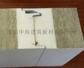 A级防火新型聚氨酯封边岩棉玻璃丝棉复合板沈阳中海
