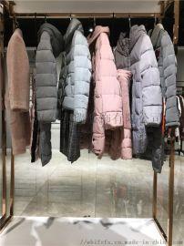 新款女装走份卡地亚冬季大衣羽绒服尾货