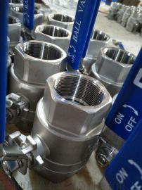 精密铸造不锈钢两片式球阀  2PC球阀