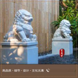 供应大理石花岗岩雕塑,石狮子