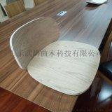 软包弯曲木工艺餐椅 日式弯曲木椅子 实木弯曲加工