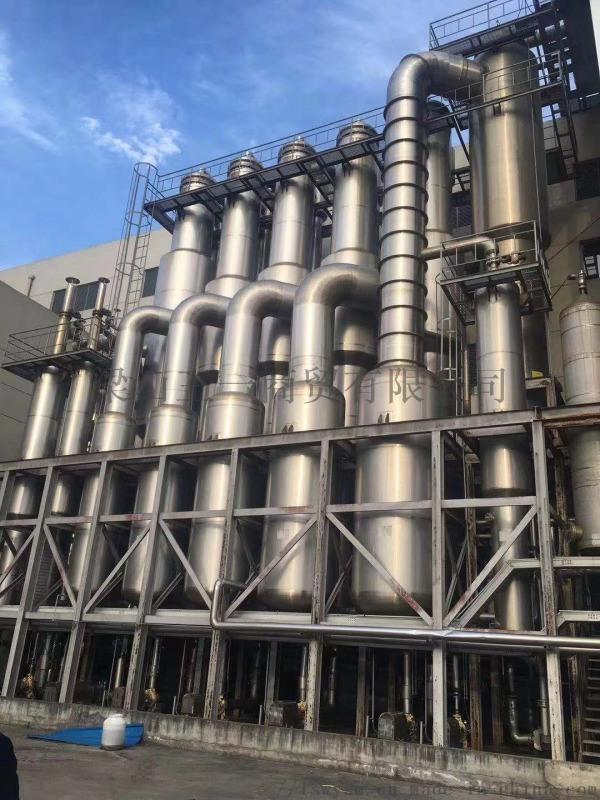 二手30吨钛材降膜蒸发器出售