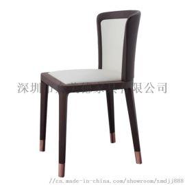 咖啡厅料理店餐椅西餐厅实木桌椅定做工厂,酒店椅子