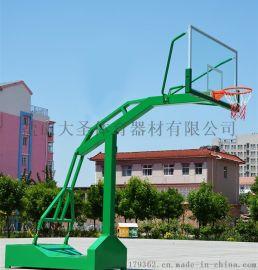 河北体育器材厂家批发地埋固定篮球架DSL-01