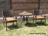板岩圓桌庭院陽臺休閒桌椅鑄鋁桌椅花園傢俱