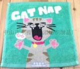 厂家定制广告礼品纯棉活性印花卡通儿童方巾手帕