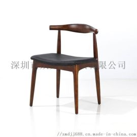 餐饮店木制餐椅火锅店椅子定做北欧实木餐桌款式