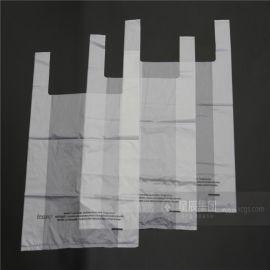 大量供应PLA/PBAT全生物降解商超购物袋 绿色环保背心拎手袋