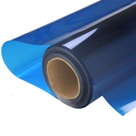 销售双面蓝色玻璃装饰膜太阳膜玻璃改色膜