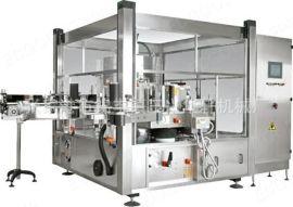 全自动热熔胶贴标机薄膜opp自动直线式回转式贴标机