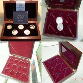 手表盒首饰盒,纪念章木盒, 奖章木盒