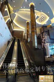 香港酒店高档包柱—古铜色