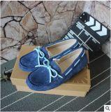 工廠批發 新款5130真皮豬八戈平底豆豆鞋 女款單鞋一件代發