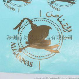 制作电铸黑色金属logo 玫瑰金金属标贴 五金logo标牌