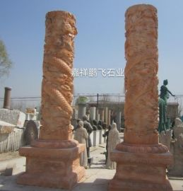 厂家特价供应石雕龙柱 选用优质大理石雕刻