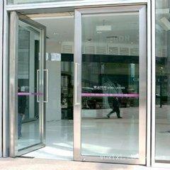 太原安装不锈钢包框有框玻璃门