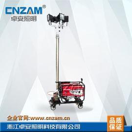 4.5米自动升降移动照明车4x500W卤钨灯移动照明灯塔厂家批