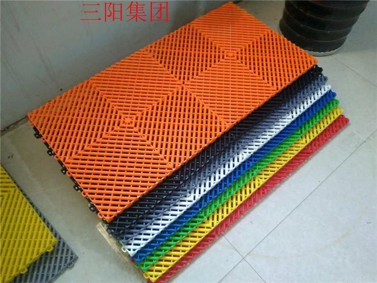 塑料格柵洗車房高分子塑料拼接格柵防滑地墊塑料地板洗車網格板