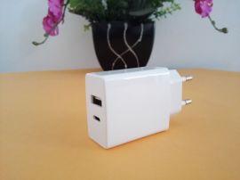 厂家直销 5V2A Type-C充电器 双USB接口 CE认证产品