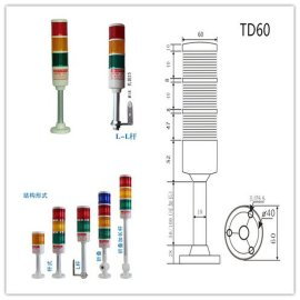 HNTD50/55/60 24v220v LED机床信号指示警示灯闪烁折叠报警灯