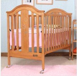 贝安诺环保婴儿床 童床盖亚贴钻130德国榉木实木0甲醛无漆