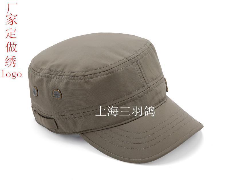 中老年男士 帽子军帽平顶帽韩版潮秋冬鸭舌帽户外大码大头围包邮