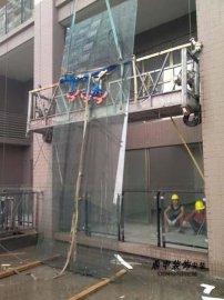 广州外墙玻璃、高空吊装玻璃
