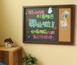 创意推拉式 木制移动小黑板 教学多功能软木留言板 混批