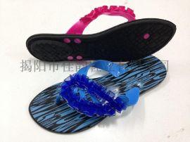 2015新款拖鞋揭阳厂家供应女款时尚丝带拖鞋
