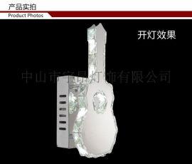 欧式现代铁艺水晶不锈钢壁灯客厅餐厅楼道卧室吊壁灯B105