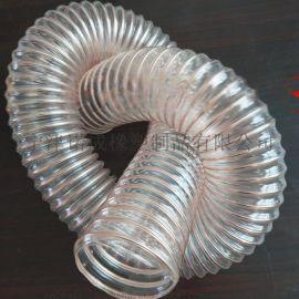 环保设备吸尘软管、抽吸木屑刨伸缩软管工业除尘通风增强管