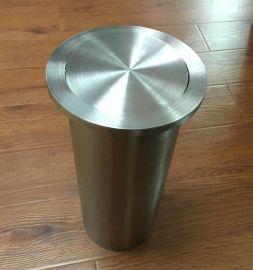圆形 304不鏽鋼 台面 嵌入式 垃圾桶,
