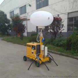 山东厂家直销移动照明车手推式球形照明车