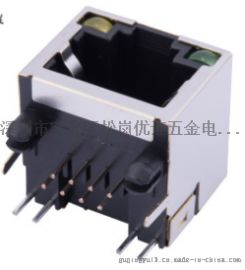 RJ45网络接口 带LED灯 56A**8P8C单口(56A-S1188L1)