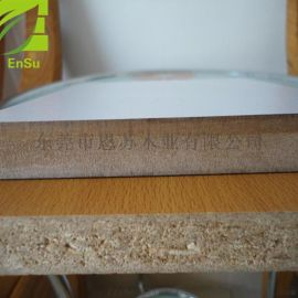刨花板双面贴面板 E1家居级贴面刨花板