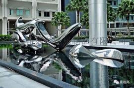 售楼处园林不锈钢雕塑、镜面不锈钢雕塑 加符合现代风
