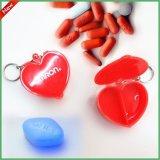 攜帶型藥盒 桃心塑料盒 塑料心形盒子 愛心塑料藥盒