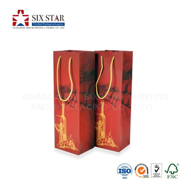 工厂专业定做酒袋手挽袋葡萄酒礼品袋设计印刷加工