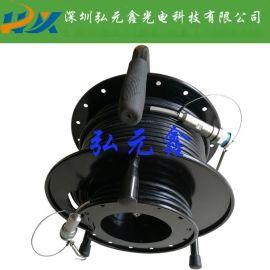 【弘元鑫】100米双端预置J599系列2光2电复合缆连接器组件