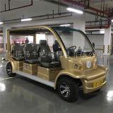 无锡游乐场6座金色电动观光游览车厂家,四轮电瓶看房车报价,配置