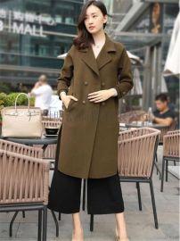 原创设计师17年新款双面呢 品牌折扣女装哪家好 就到广州明浩