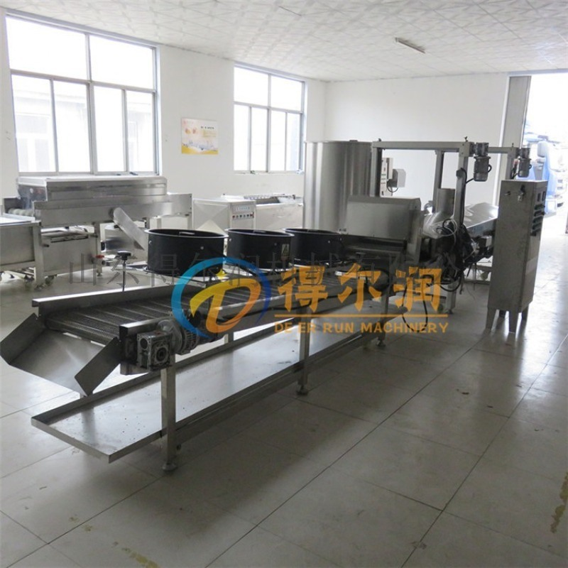 天津HT夹心海苔油炸去油生产线 海苔自动油炸机设备