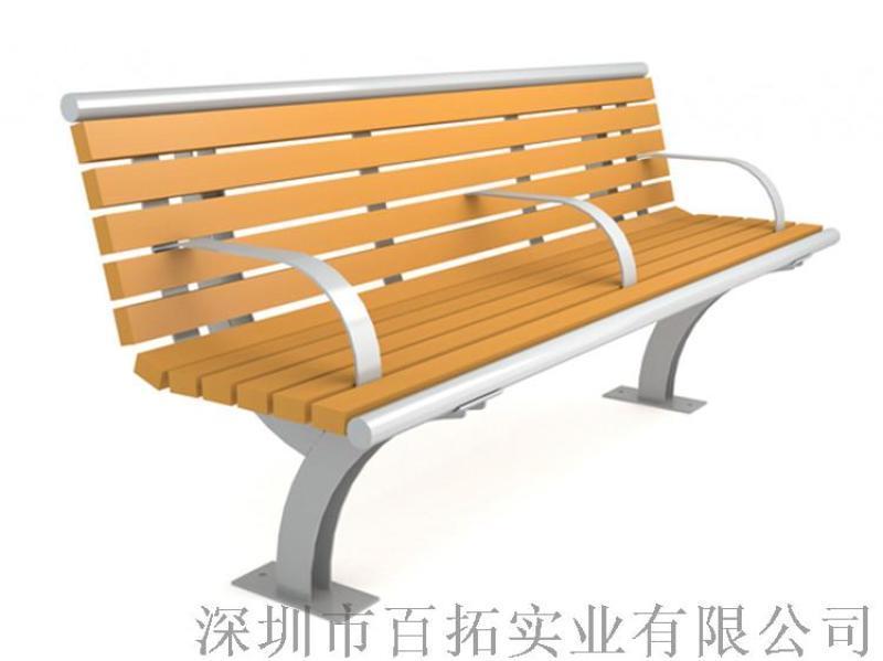 公园排椅园林休闲长椅防腐木靠背椅长条凳户外长椅
