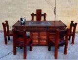 老船木家具 泡茶桌 石磨茶几 茶桌茶台船木茶桌