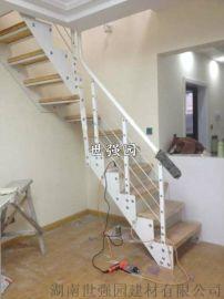 长沙复式楼梯安装-整体楼梯定制-钢木结构旋转楼梯