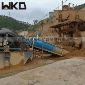 石城螺旋洗砂机 石头石粉洗沙机 清洁精品沙多少钱