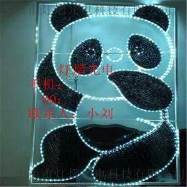 燈光節滴膠雪人造型燈 滴膠熊貓動物燈