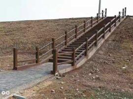 焦作市各种茬装水泥仿木栏杆,水泥仿木各种产品