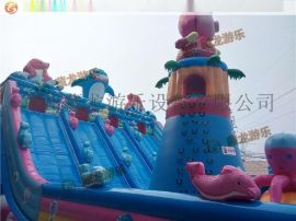 2015年猪猪侠系列充气城堡新品上市,充气蹦床**款就在郑州藏龙游乐