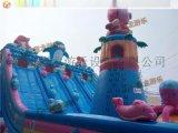 2015年豬豬俠系列充氣城堡新品上市,充氣蹦牀最新款就在鄭州藏龍遊樂